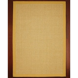 Roma Gold Sisal Rug (9' x 12') with Bonus Rug Pad