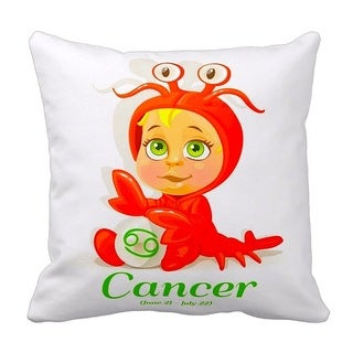 Mia Lee Baby Zodiac Cancer Throw Pillow