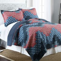 Amraupur Overseas Cassidy 100-percent Cotton 3-piece Reversible Quilt Set