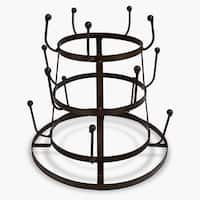 Brown Iron Mug Tree Organizer