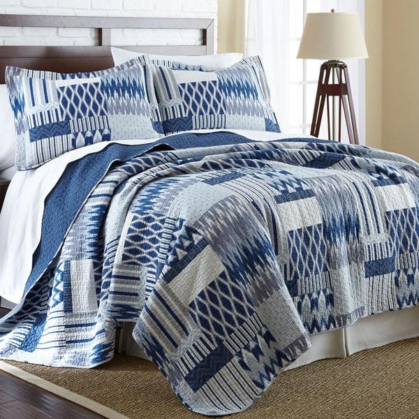 Amraupur Overseas Aubrey 100-percent Cotton 3-piece Reversible Quilt Set