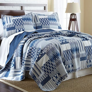Aubrey 100-percent Cotton 3-piece Reversible Quilt Set