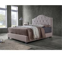 Baxton Studio Juliet Contemporary Espresso Arch Tufted Fabric Upholstered Bed