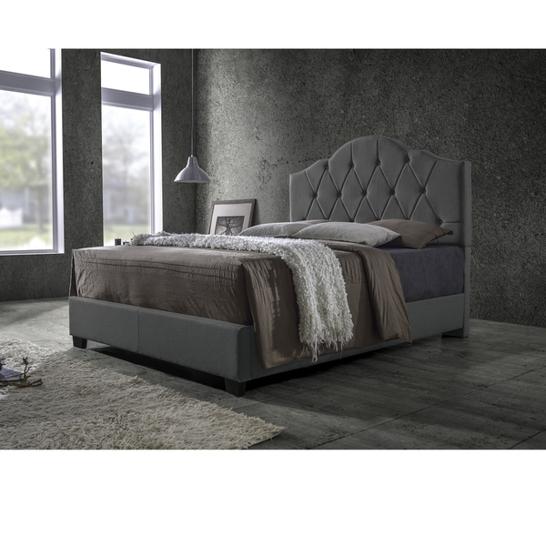 grey upholstered bed queen decorating ideas bedroom transitional fabric button tufted king