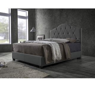 Baxton Studio Romeo Contemporary Espresso Button-tufted Brown Upholstered Bed