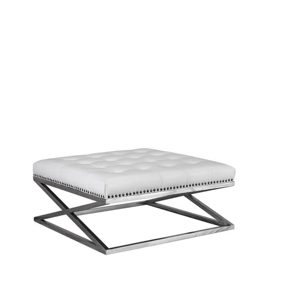 Shop Lazzaro Leather Peyton Stainless Base Leather Tufted