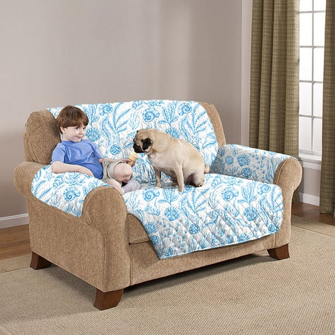 Slumber Shop Reversible and Quilted Seashell Furniture Protector