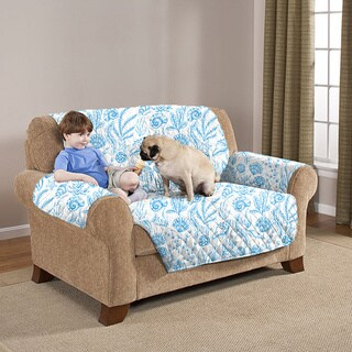 Slumber Shop Reversible and Quilted Seashell Furniture Protector - loveseat
