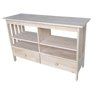 Solid Parawood Mission Entertainment Stand