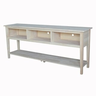 Solid Parawood Entertainment Stand