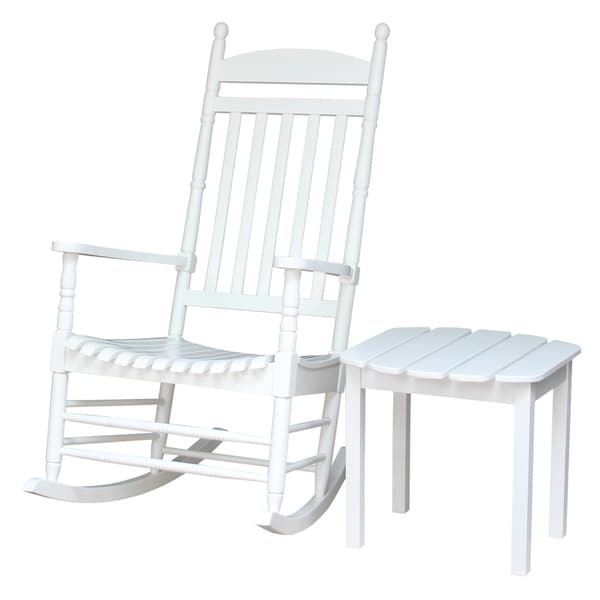 Havenside Home Surfside Wooden Patio Rocker with Side Table