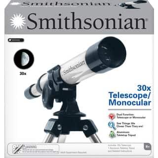Smithsonian 30X Telescope/ Monocular - Black