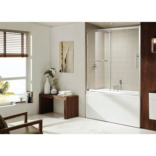 Paragon Bath - SEDONA Premium (8mm) Thick Clear Tempered Glass, 60 in. W x 58 in. H, Sliding Shower door in Chrome