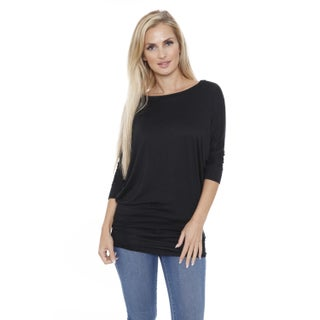 White Mark Women's Boatneck Dolman Tunic Top (More options available)