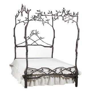 Corsican 43142 Hand-forged Iron Dark Forest Canopy Bed