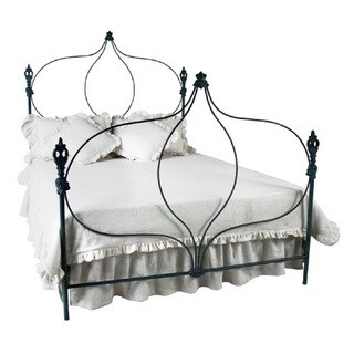 Corsican 42934 Hand-forged Iron Onion Queen Bed