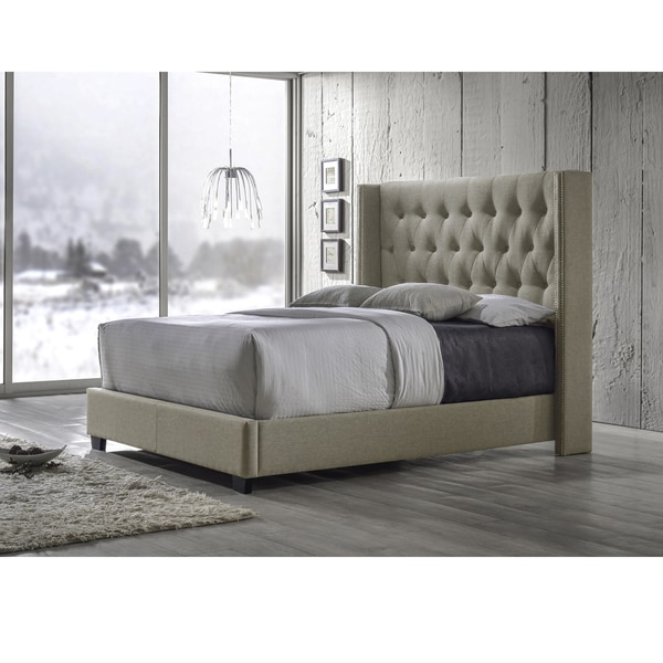 Image Result For Katherine Fabric Wingback Bed With Nailhead