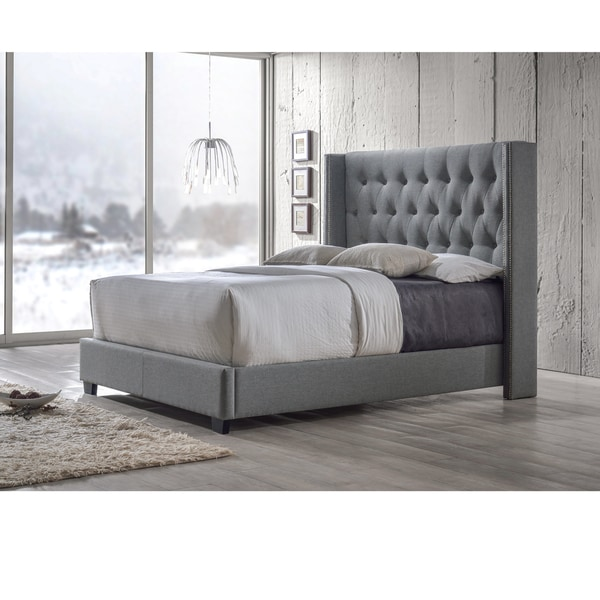 baxton studio katherine contemporary tufted grey