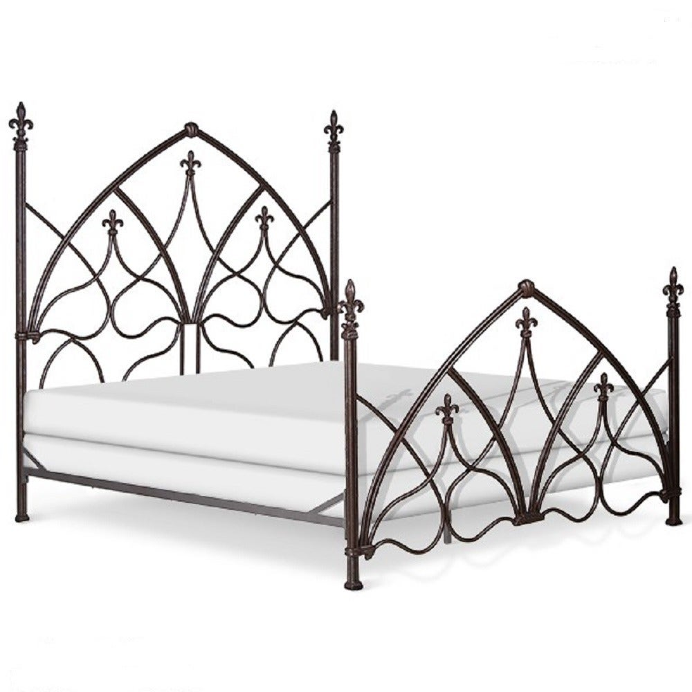 Corsican 42890 Hand-forged Iron Gothic Night Bed (42890-Q...