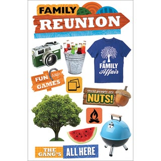 Paper House 3D Stickers 4.5inx8.5inFamily Reunion
