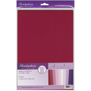 Adorable Scorable 350gsm Cardstock Assortment Pack A4 10/PkgPinks & Purples