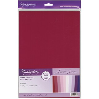Adorable Scorable 350gsm Cardstock Assortment Pack A4 10/PkgPinks & Purples