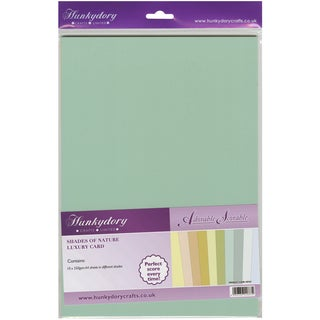 Adorable Scorable 350gsm Cardstock Assortment Pack A4 10/PkgShades Of Nature