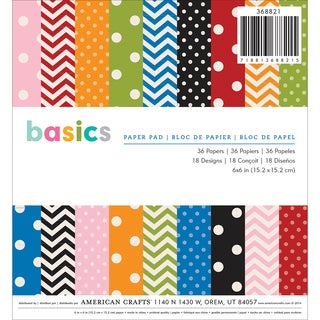 American Crafts Paper Pad 6inX6in 36/PkgBasics
