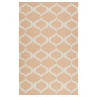 Indoor/Outdoor Laguna Pink and Ivory Geo Flat-Weave Rug (3'0 x 5'0) - 3' x 5'