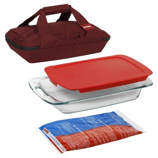 Pyrex Portable Easy Grab 4-piece Food Storage Container Set