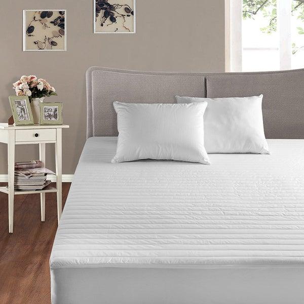 Cotton Basics 200 Thread Count Cotton Mattress Pad - White