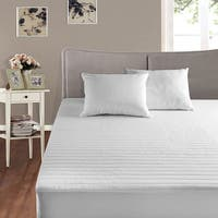 Cotton Basics 200 Thread Count Cotton Mattress Pad - White