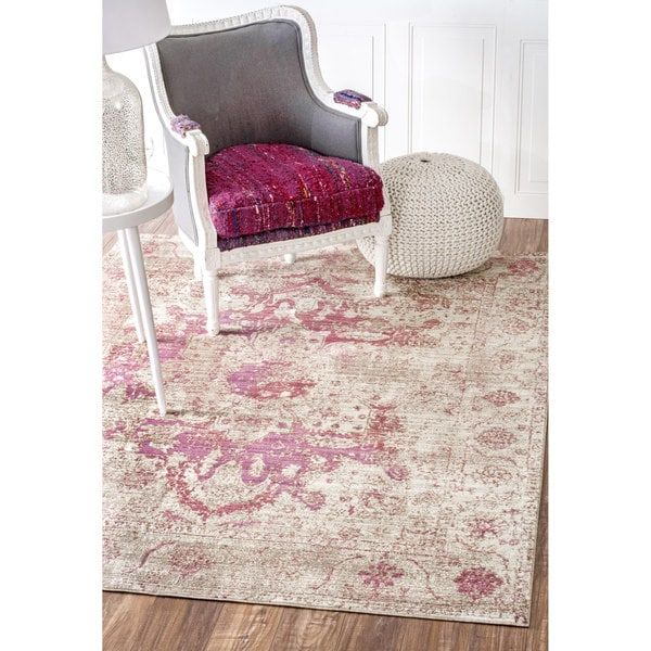 Nuloom Traditional Vintage Fancy Beige Rug 5 3 X 7 7
