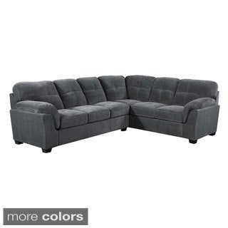 Contemporary Padded Microdenier 2 Piece Sectional