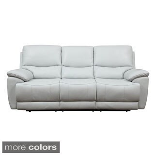 Leather Match Power Dual Reclining Sofa