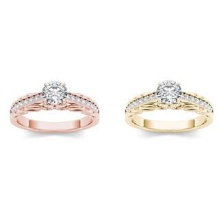 De Couer 14k Gold 3/4ct TDW Diamond Vintage Engagement Ring