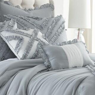 Julianne 8-piece Grey Ruffles Comforter Set