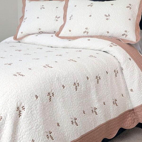 Windsor Home Lelu Embroidered 3-piece Quilt Set