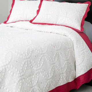 Windsor Home Eileen Embroidered 3-piece Quilt Set