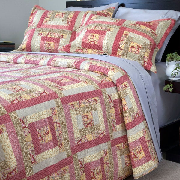 Windsor Home Colonial Squared 3-piece Quilt Set