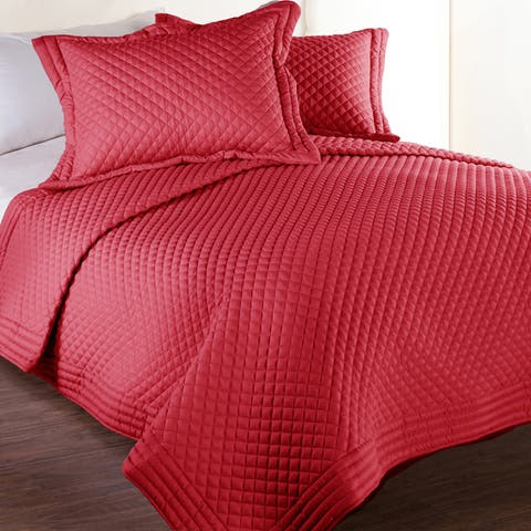 Porch & Den Clarita Microfiber Water and Stain Resistant Quilt Set