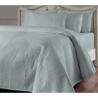 Brielle Stream Quilt Set (Seafoam - King - 3 Piece)