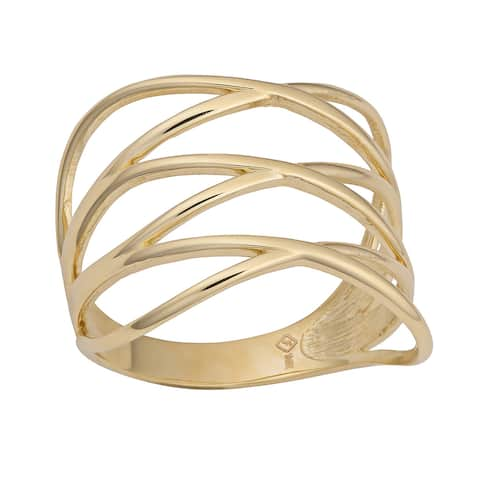 Fremada 14k Yellow Gold Women's Highway Ring
