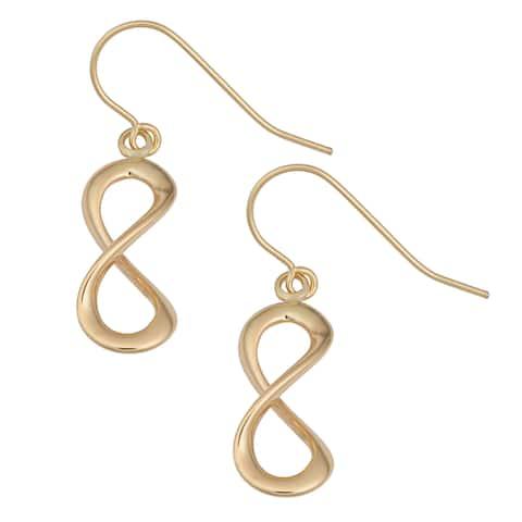 Fremada 14k Yellow Gold High Polish Infinity Dangle Earrings