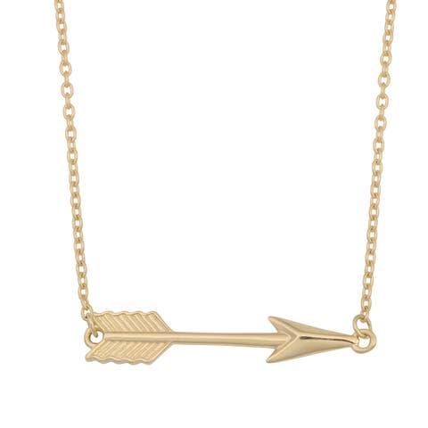 Fremada 10k Yellow Gold High Polish Arrow Necklace