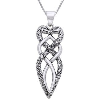 Carolina Glamour Collection Sterling Silver Celtic Snake Necklace