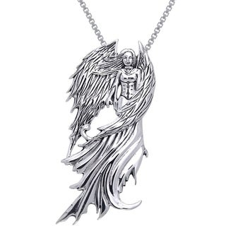 Sterling Silver Winged Fairy Necklace