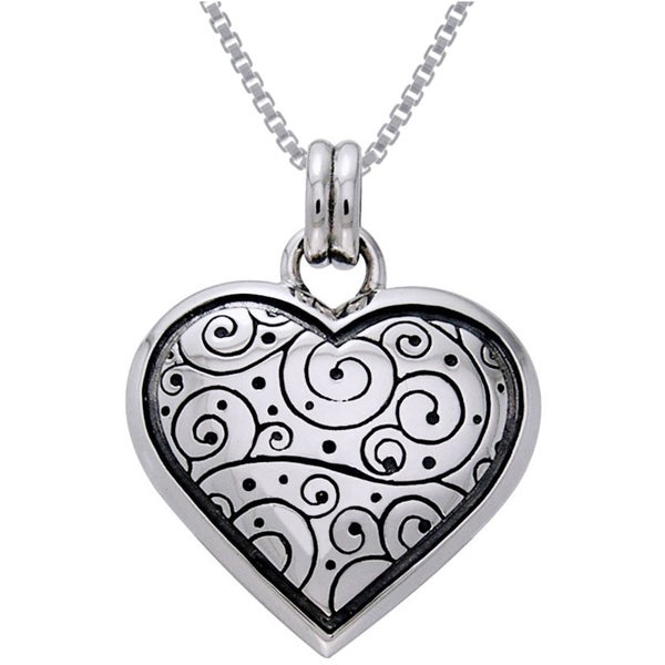 Shop Sterling Silver Celtic Spiral Heart Necklace Free