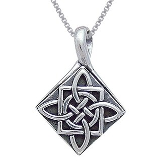 Carolina Glamour Collection Sterling Silver Celtic Four Point Quaternary Knot Necklace