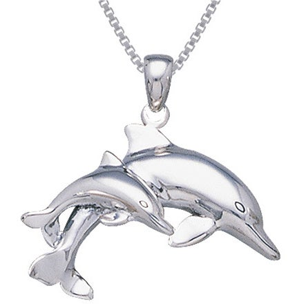 Sterling Silver Polished Dolphin Pendant